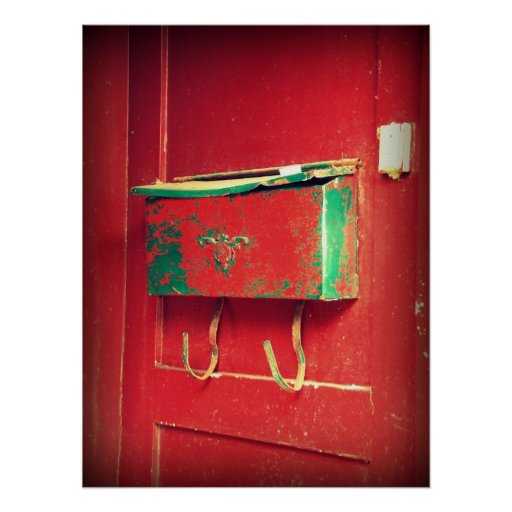 Red Mailbox Posters