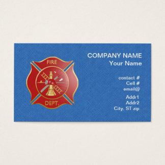 Red maltese  firefighting cross business card