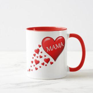 Red Mama Hearts Mug