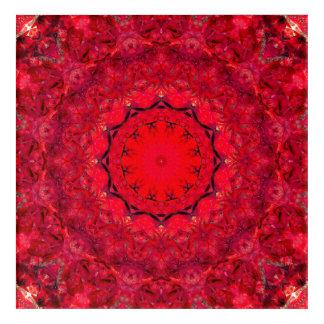 Red Mandala Art