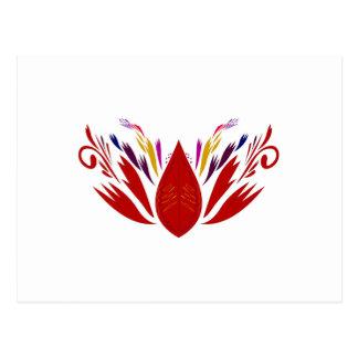 RED Mandala  ethno on white Postcard