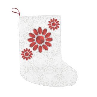 Red Mandala Pattern Christmas Socks 4 (Platinum)
