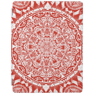Red mandala pattern iPad cover