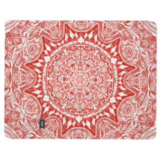 Red mandala pattern journal