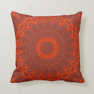 "Red Mandala Pillow 16"" x 16"""