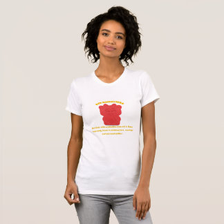 Red Maneki Neko Both Paws NEW T-Shirt