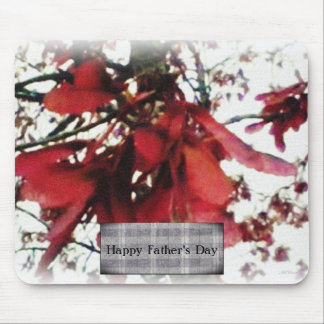 Red Maple Keys Botanical Fathers Day Mousepad