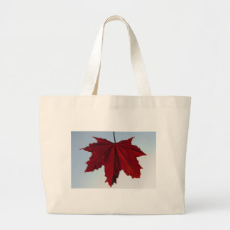 Red Maple Leaf Canvas Bag