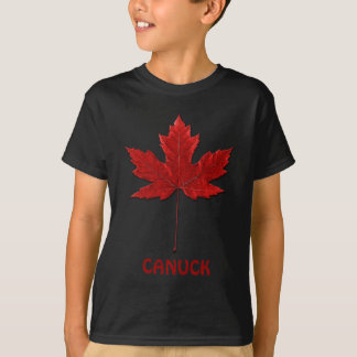 Red Maple Leaf Canadian Emblem Canuck for Kids T-Shirt