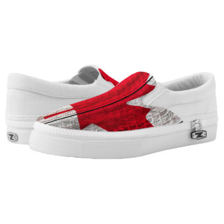 red maple leaf canadian flag Slip-On shoes