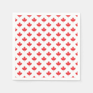 Red Maple Leaf Disposable Napkin