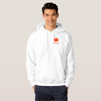 Red maple leaf hoodie