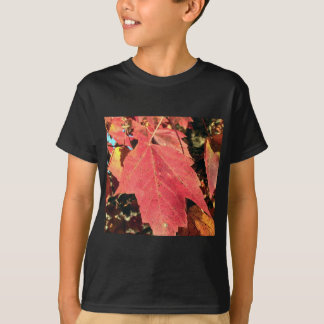 RED MAPLE LEAF IN AUTUMN T-Shirt