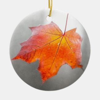 Red Maple Leaf - Mystique Autumn Ceramic Ornament