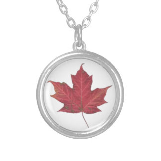 Red Maple Leaf Pendant