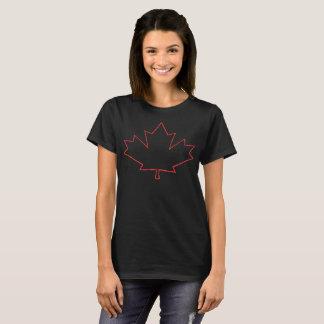 Red Maple Leaf Outline T-Shirt