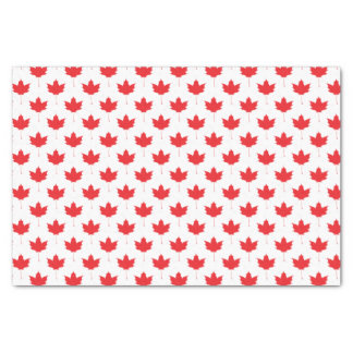 Red maple leaf tissue paper