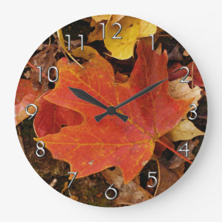 Red Maple Leaf Wall Clock