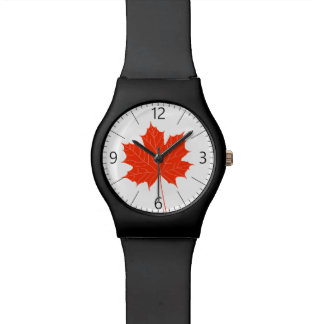 Red maple leaf watch