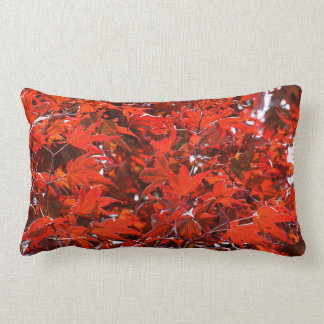 Red Maple Leaves Lumbar Pillow