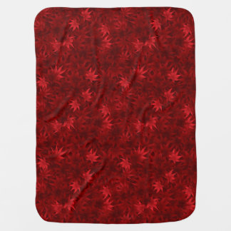 Red maple leaves pattern swaddle blankets