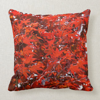 Red Maple Leaves Throw Pillow