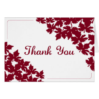 Red Maple Thank You Card
