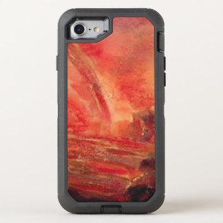Red marble Apple iPhone 8/7Defender Series , Black