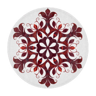 Red Marble Snowflake Cutting Board