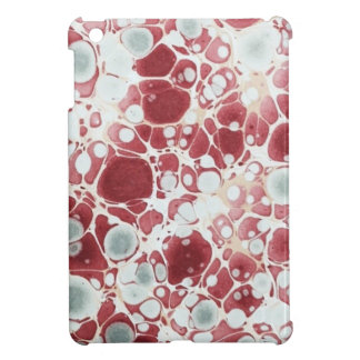 Red marbled paper iPad mini cover