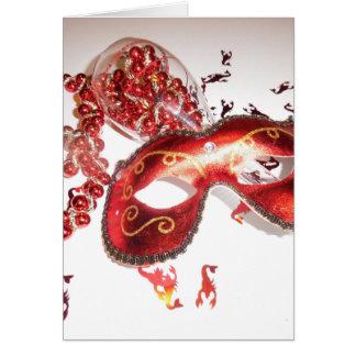 RED MARDI GRAS GREETING CARD