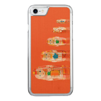 Red Matryoshka Russian Dolls iPhone 6 Slim Carved iPhone 7 Case
