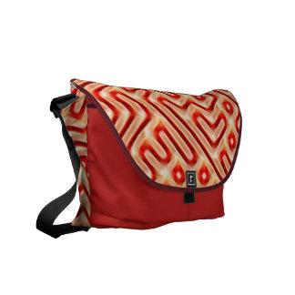 Red Maze Shoulder Bag Courier Bags