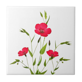 red meadow flowers tile