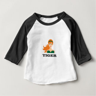 red mean tiger baby T-Shirt