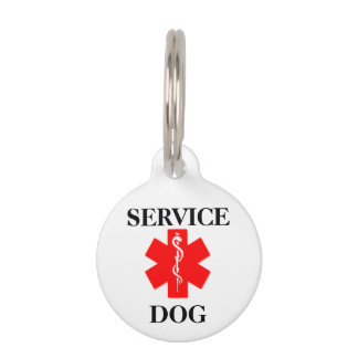 Red Medical Alert Service Dog Personalized ID Tag Pet ID Tags
