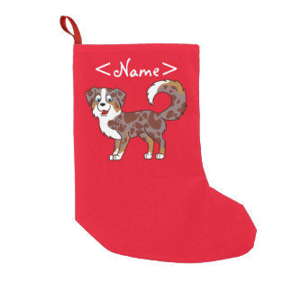 Red Merle Australian Shepherd Dog Small Christmas Stocking