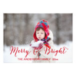 Red Merry and Bright | Holiday Photo Card Invitations