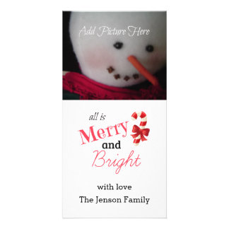Red Merry and Bright Photo Card