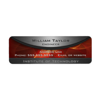 Red Metallic Elegance Return Address Label