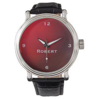 Red Metallic Gradient Monogram Watch