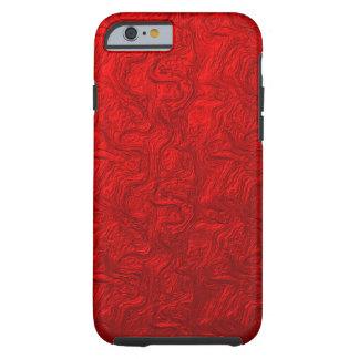 Red Metallic Swirl Tough iPhone 6 Case