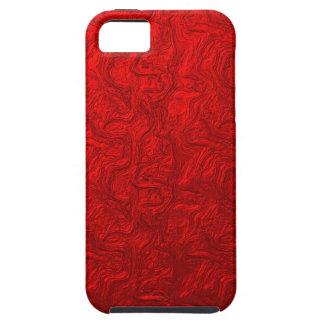 Red Metallic Swirl iPhone 5 Cover