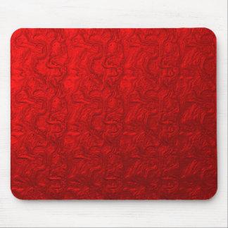 Red Metallic Swirl Mouse Pad