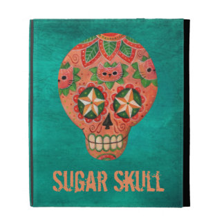 Red Mexican Sugar Skull iPad Cases