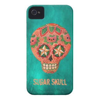 Red Mexican Sugar Skull Case-Mate iPhone 4 Case