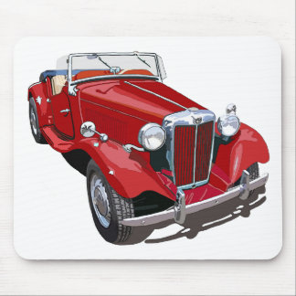 Red MG TD Mouse Pad