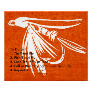 """Red Midge - Trout Fly To Do List"" Poster"