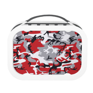 Red Military Camouflage Lunchbox