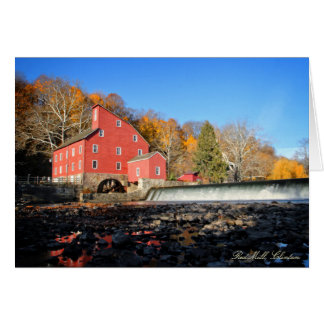 Red Mill, Clinton, New Jersey - 5x7 Greeting Card